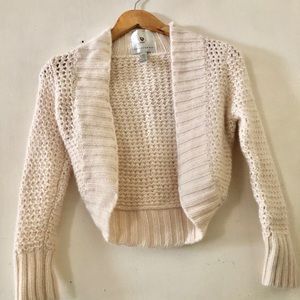 Abercrombie sweater size xs cream color